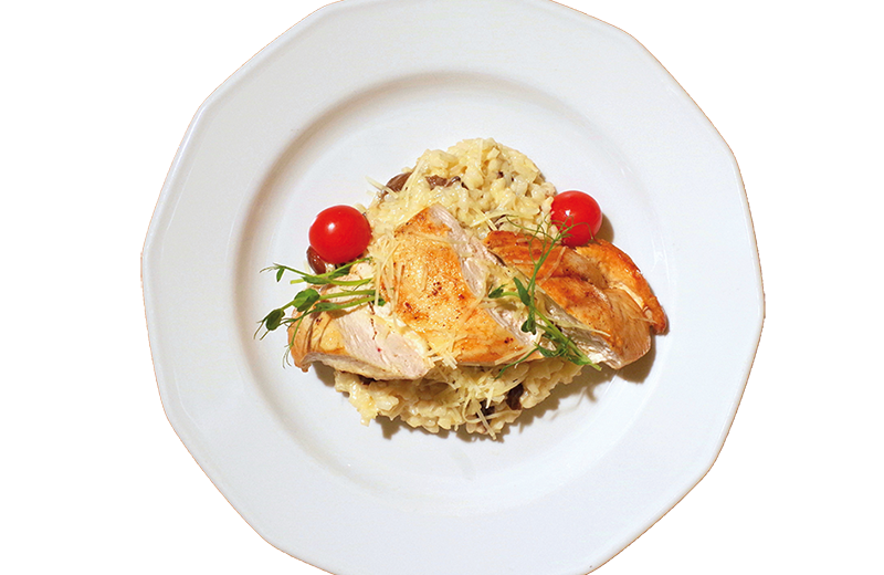 Mushroom Risotto With Chicken